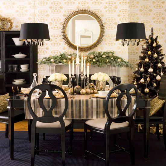 Πρωτοχρονιά 2013, ιδέες για το στρώσιμο του τραπεζιού, σε τόνους μαύρου-χρυσού