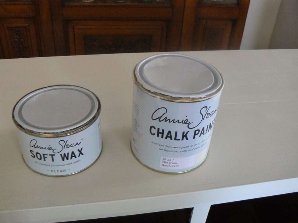 chalk paint annie sloan, old white, clear wax