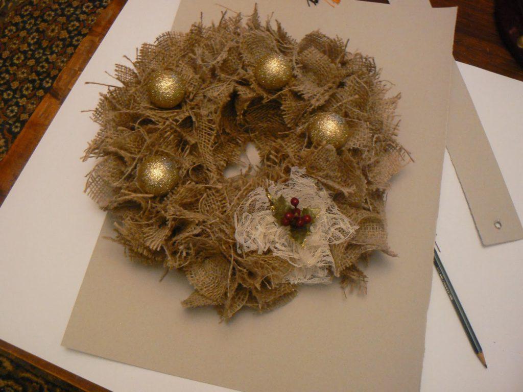 Bourlap christmas wreath