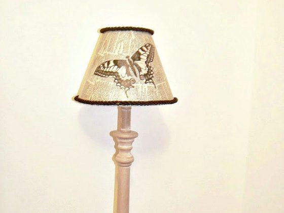 Decoupage σε καπέλο λάμπας