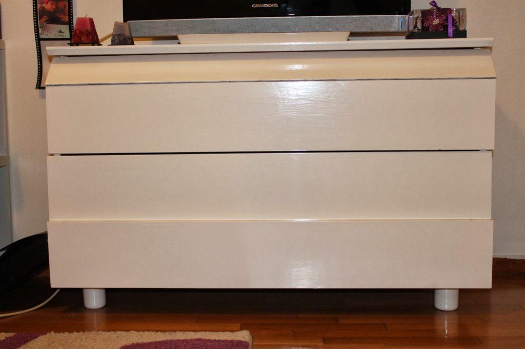 Άσπρη συρταριέρα για το δωμάτιο της κόρης μου