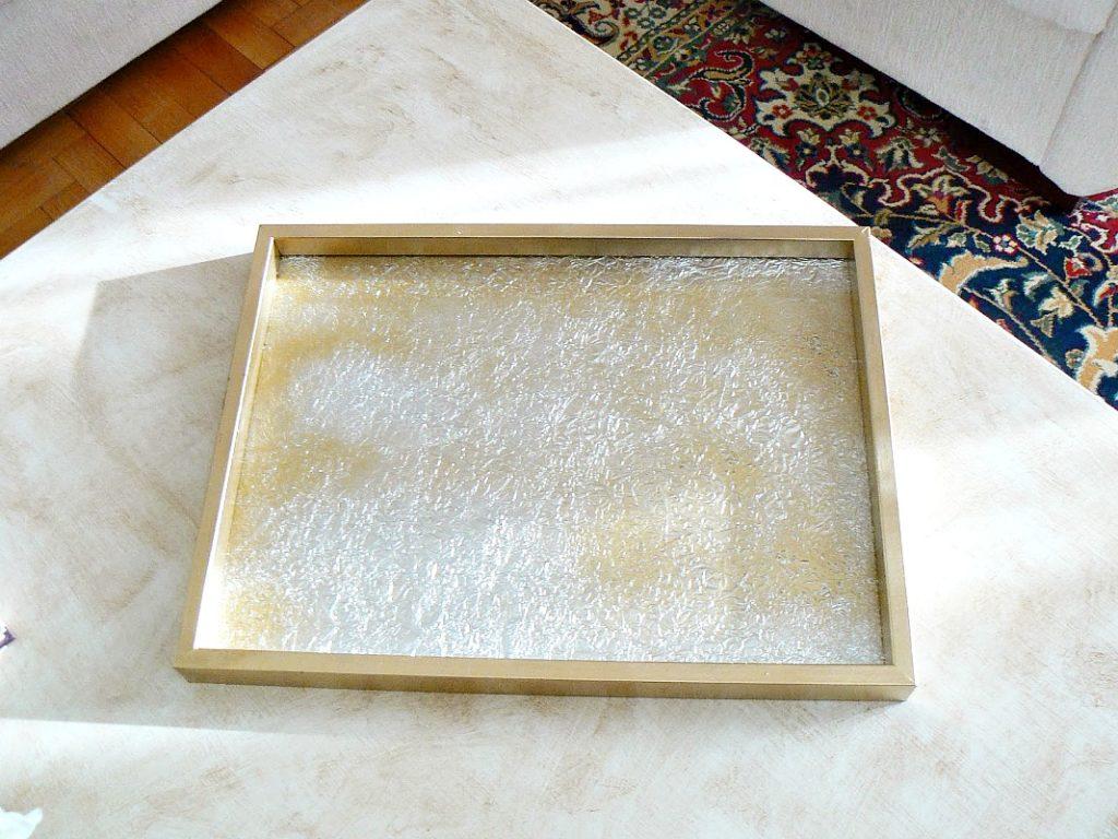 Δίσκος από κορνίζα φωτογραφίας σε χρυσό και ασημί χρώμα