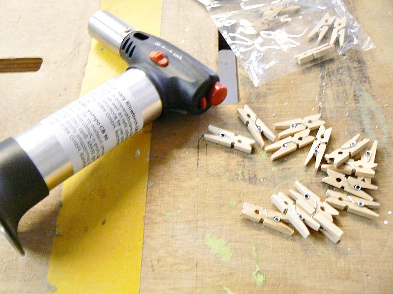 How to age clothes pins