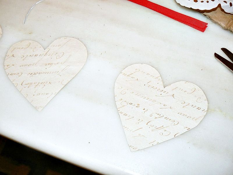 Love letter hearts