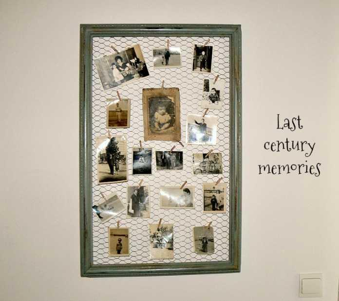 Παλιά κορνίζα γίνεται σταντ για φωτογραφίες