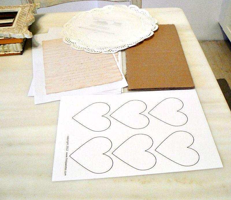 Υλικά για να φτιάξω τις κορνίζες του Αγίου Βαλεντίνου