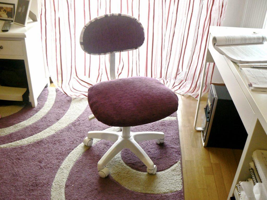 Πως άλλαξα εμφάνιση σε μια απλή παλιά καρέκλα γραφείου