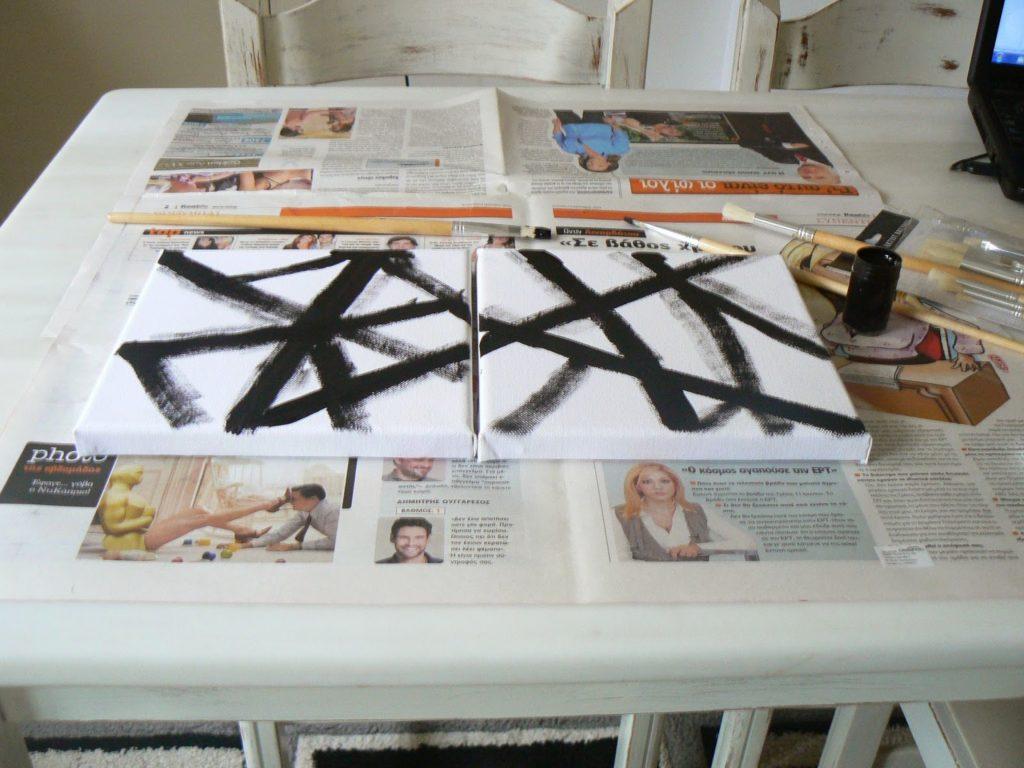 Ασπρόμαυρα καδράκια αφηρημένης τέχνης