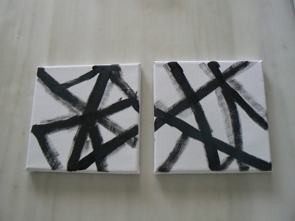 Abstract art on small canvas