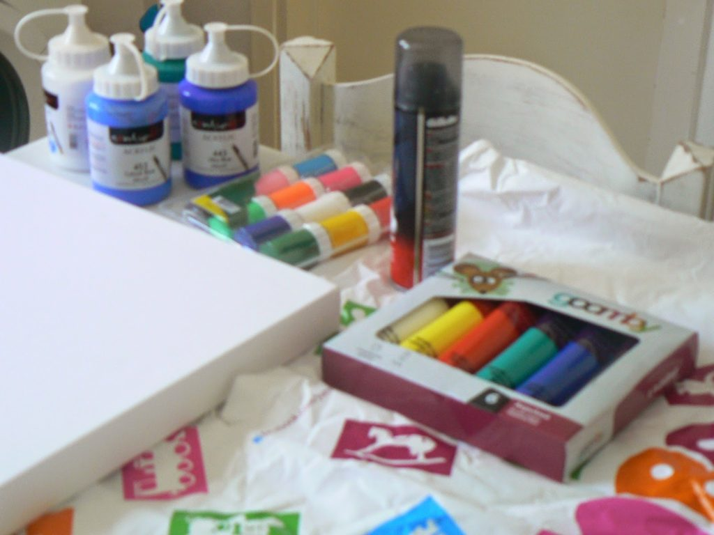 How to paint with shaving foam