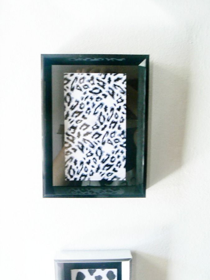Leopard printable in a frame