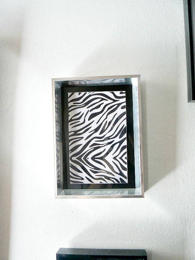 Zebra printable in a frame