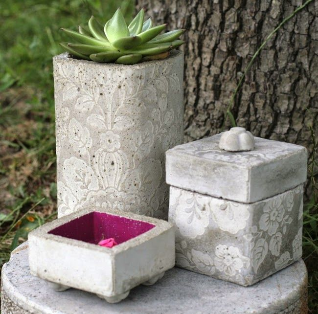 Diy concrete planters and containers