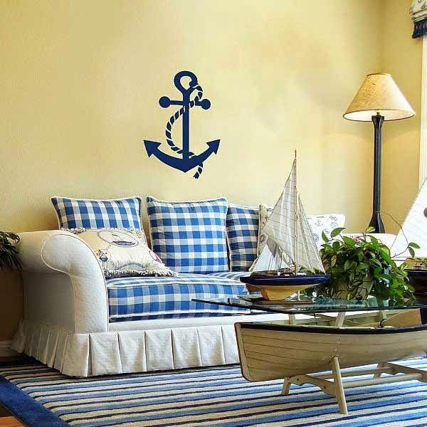 Διακόσμηση με έμπνευση την θάλασσα στο σαλόνι