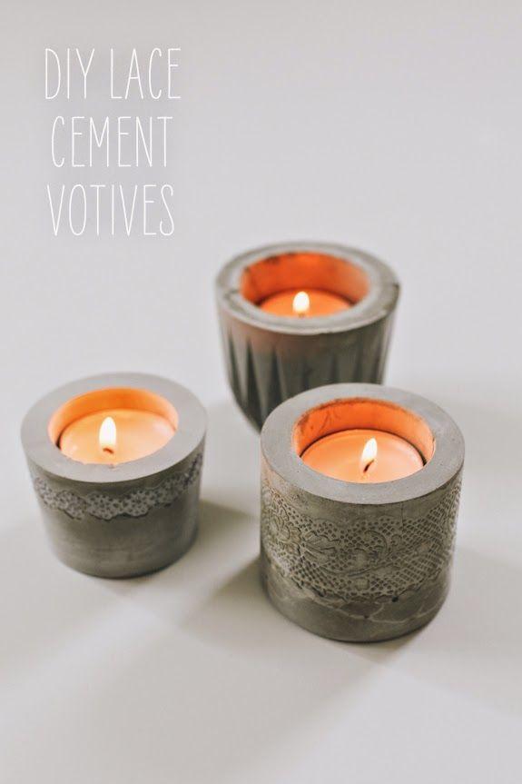Lace cement votives