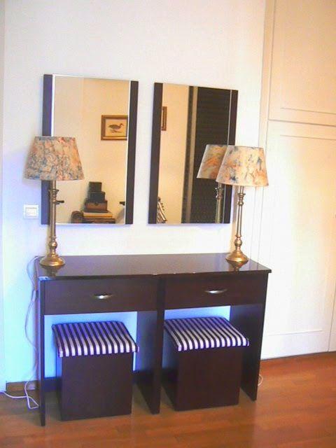 Ανανέωση φωτιστικών και σκαμπό για την κρεβατοκάμαρα