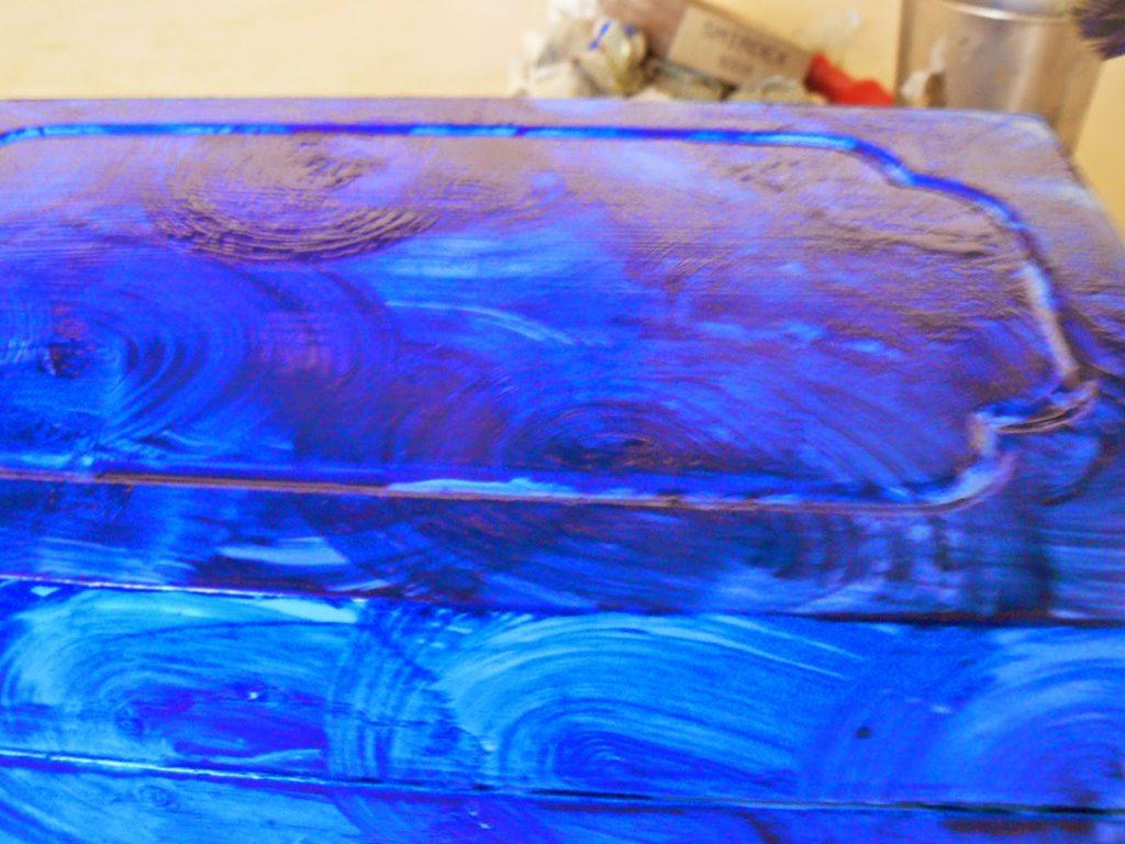 Blue malachite box