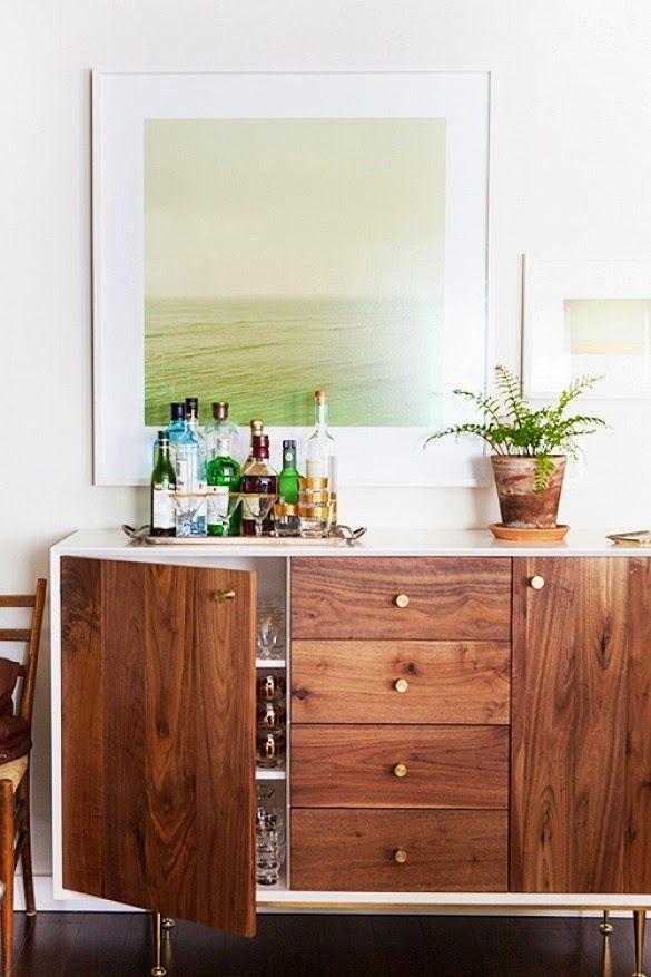 Dresser as home bar