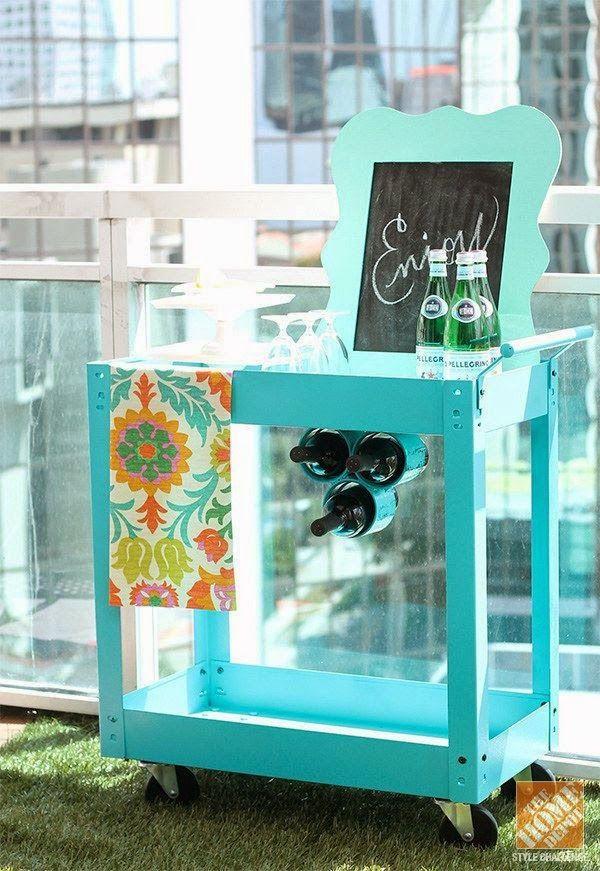 Beverage bar cart