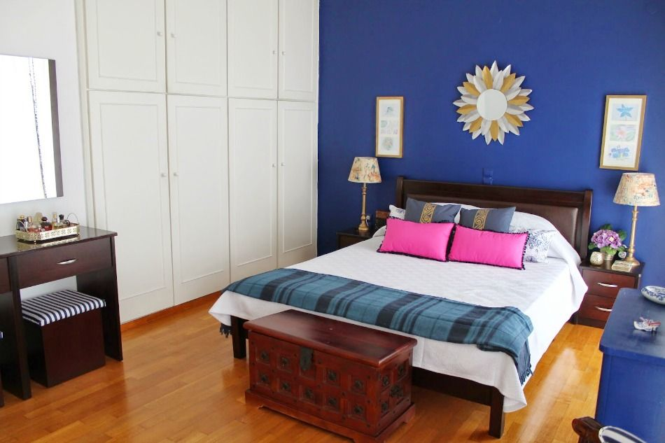 Ανακαίνιση κρεβατοκάμαρας με μπλε χρώματα