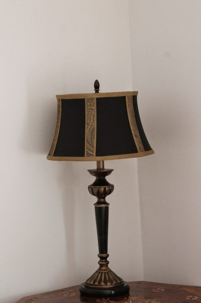 English antique lamp