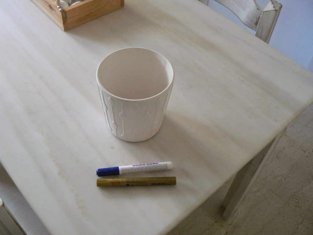 white Ikea flower pot