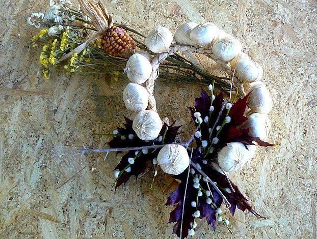 Garlic fall wreath diy