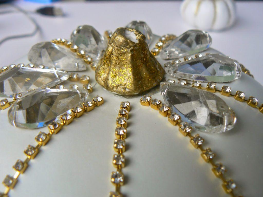 Στολισμένες κολοκύθες με πέτρες