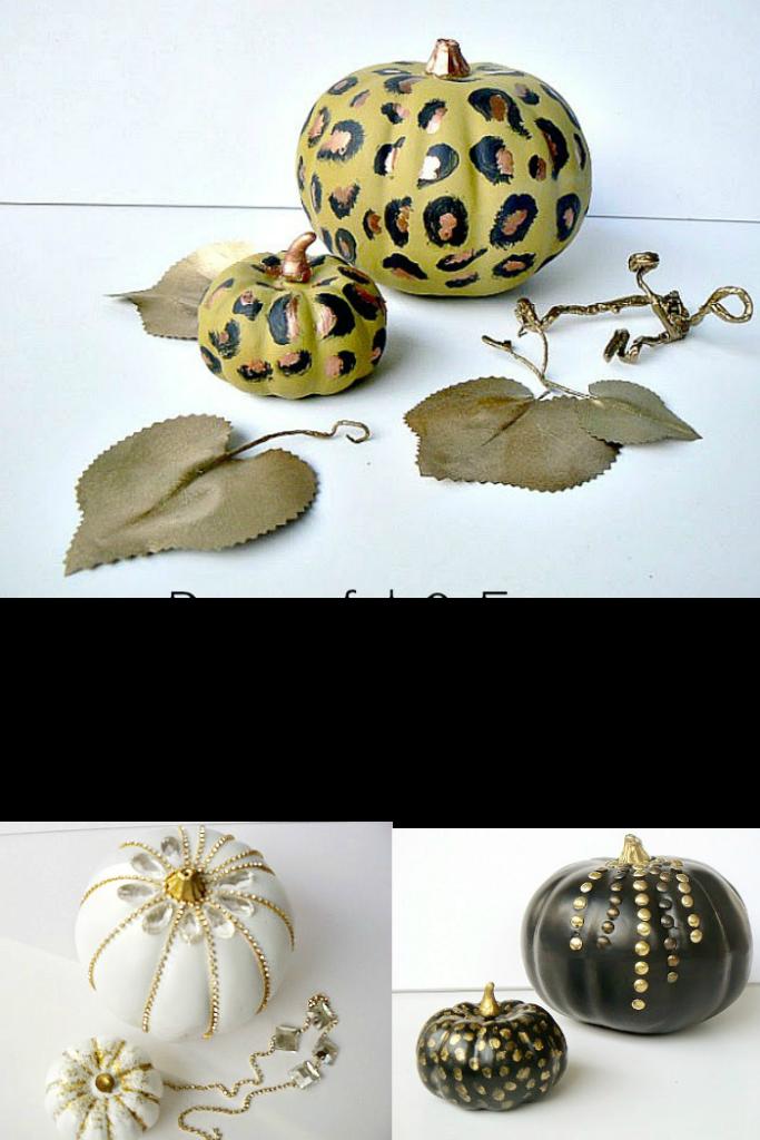 Στολισμένες κολοκύθες για φθινοπωρινή διακόσμηση | How to make modern glam pumpkins