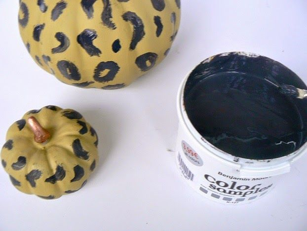 Leopard print pumpkins, how to make them
