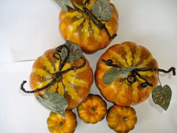 Plastic pumpkins