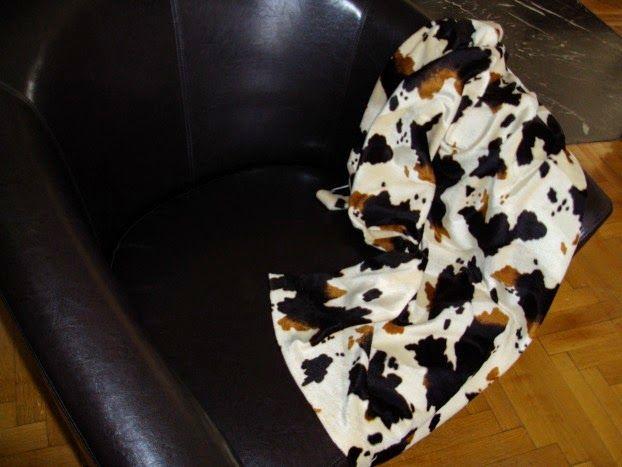 Cow rug textile
