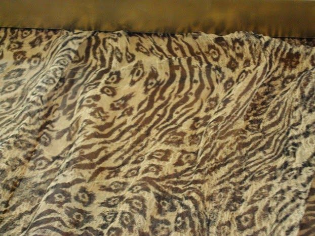 Fall tour dining room, silk animal print scarf