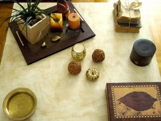 Φθινοπωρινή διακόσμηση στο τραπεζάκι του σαλονιού