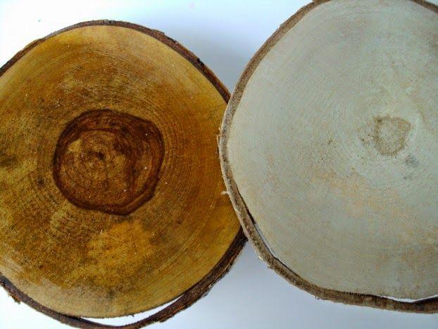 Φέτες ξύλου για βάσεις σε cake stand