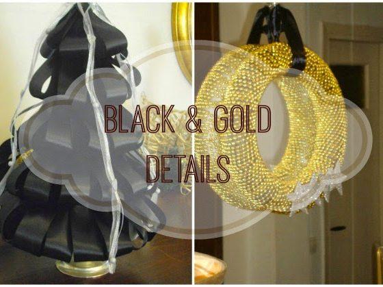 Μαύρες και χρυσές λεπτομέρειες τα Χριστούγεννα