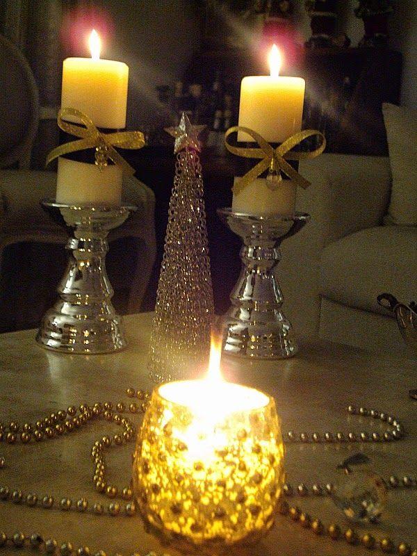 Christmas night, candles