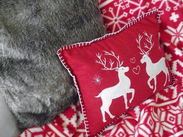 Christmas throw and pillows