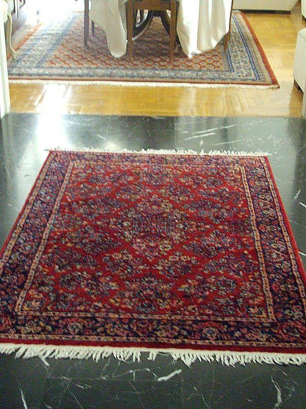 Red vintage carpet