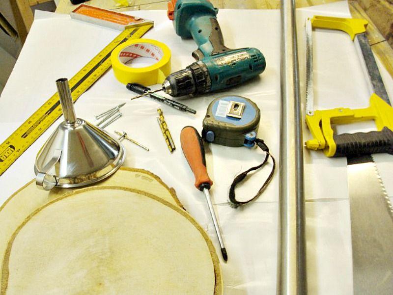 Υλικά για να φτιάξω καφετιέρα από φέτες ξύλου