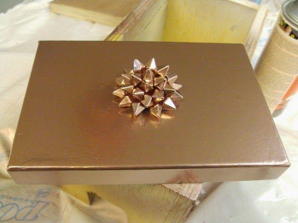 Κουτιά κοσμήματα, χάλκινο καπάκι κουτιού