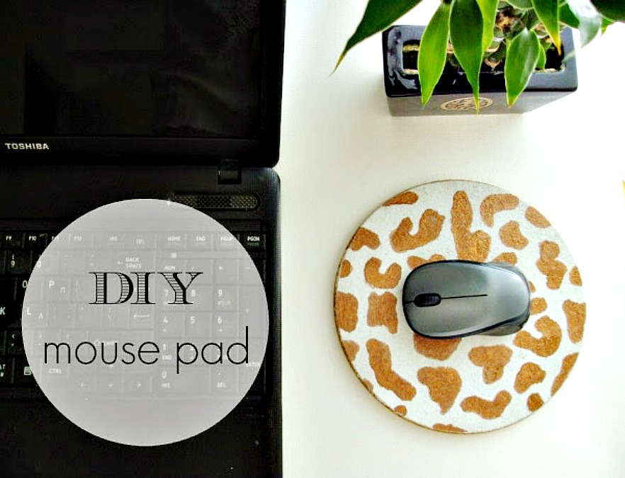 Mouse pad από φελλό diy