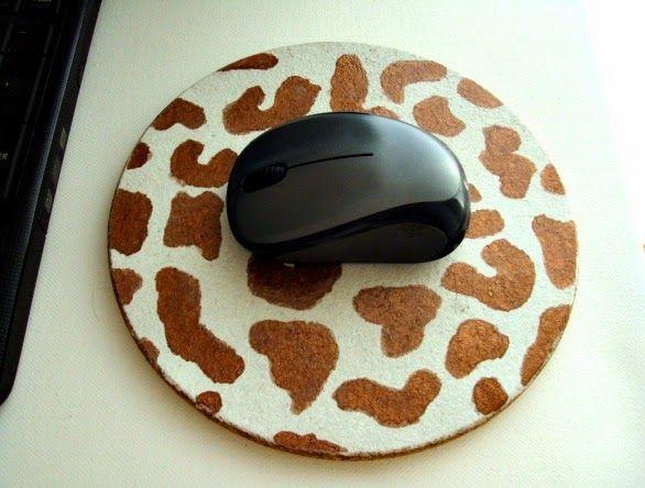 Φτιάχνω βάση για το ποντίκι του υπολογιστή από φελλό
