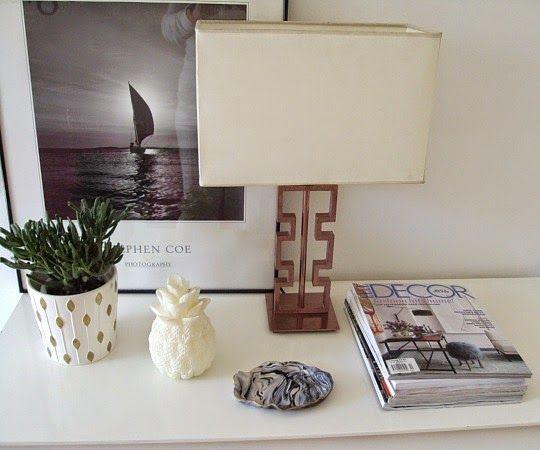 Μια λάμπα diy για το γραφείο, desk lamp, home office desk styling ideas