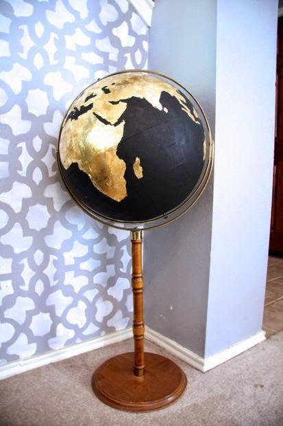 DIY Black & Gold Globe