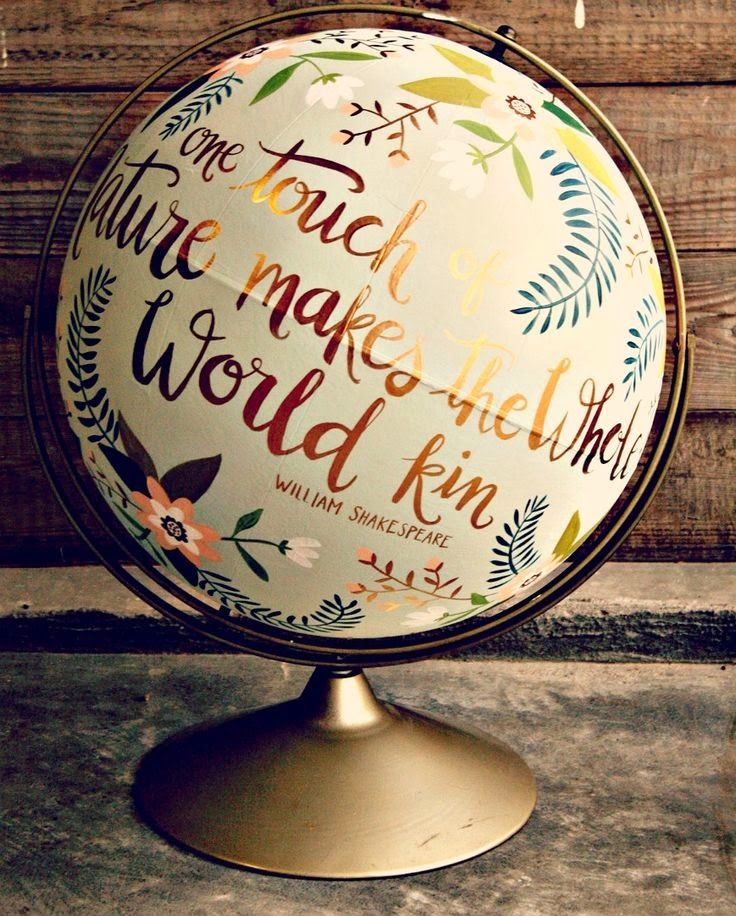 Personalized message globe