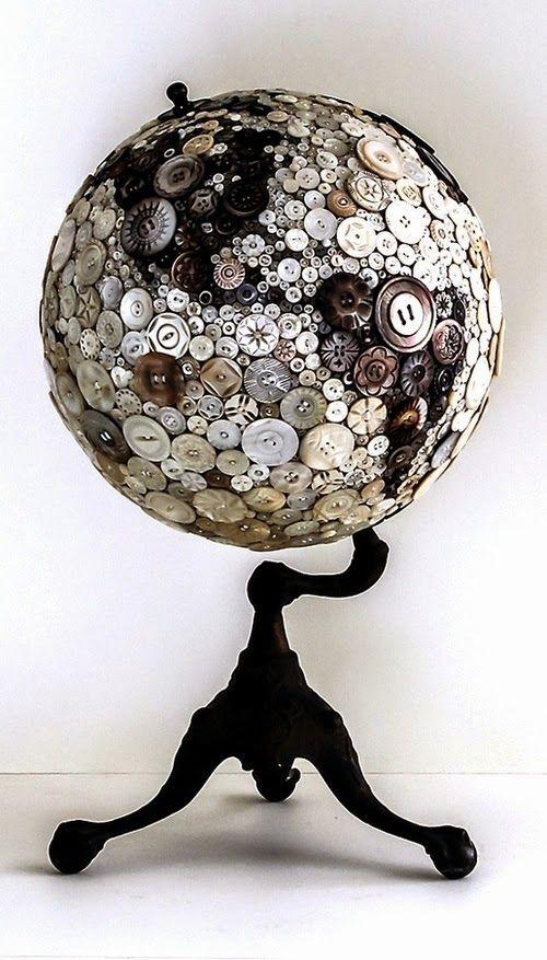 Βutton covered globe