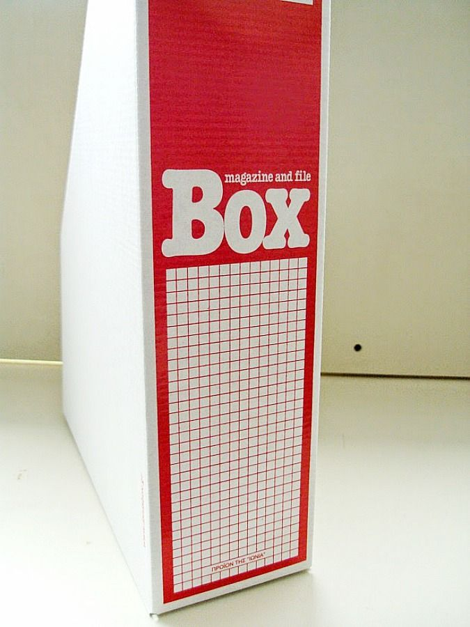 Cardboard magazine file