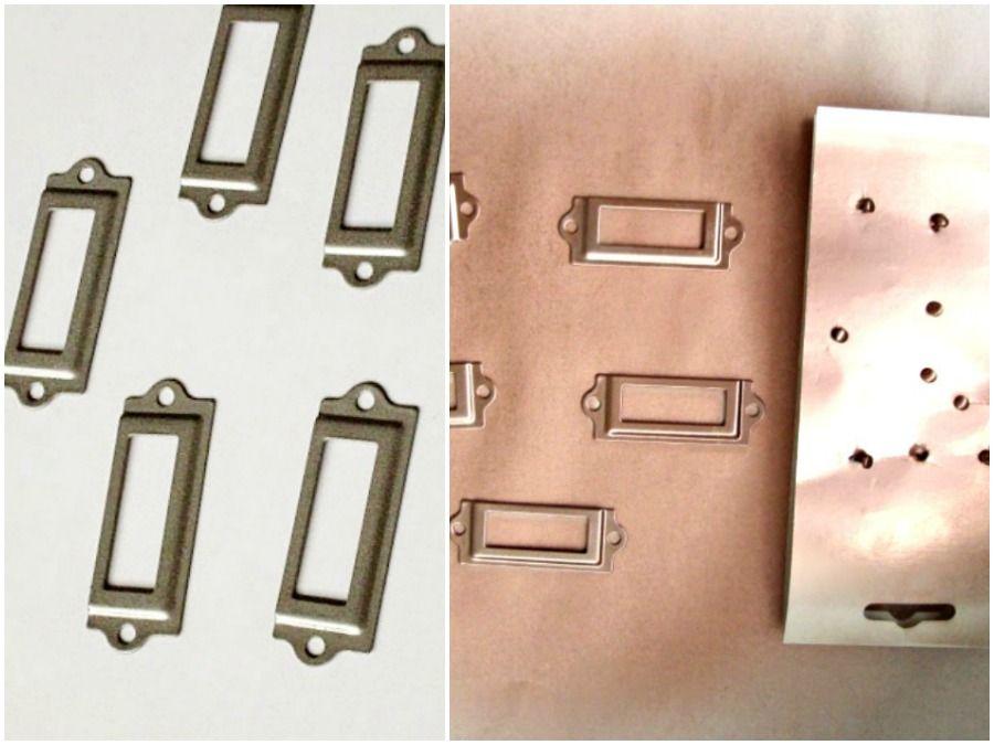 Vamenes xalkines metallikes etiketes