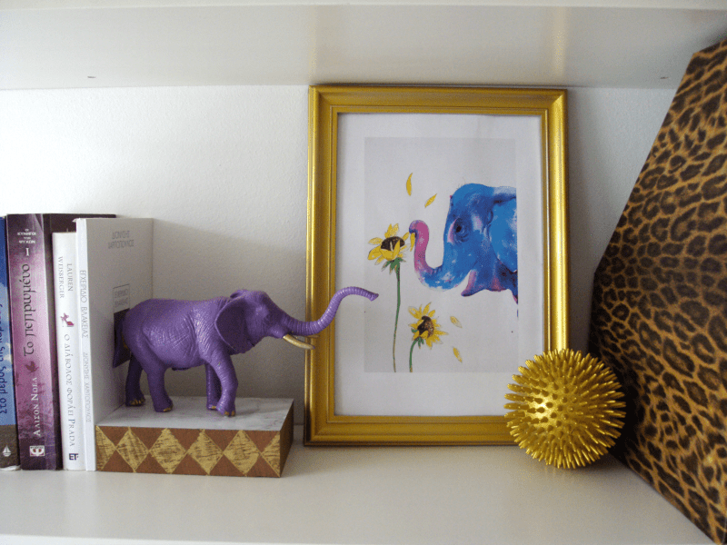 DIY elephant bookends
